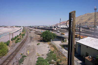Looking north, from 600 North viaduct, former D&RGW mainline