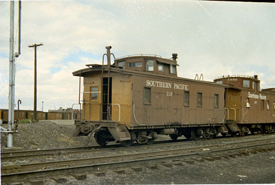 SP Wooden Caboose 159, Ogden. (Vic Oberhansley Photo)