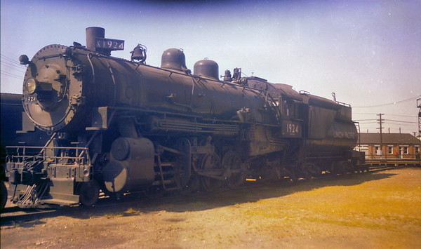 UP 2-8-2 1924, Ogden, September 29, 1957. (Vic Oberhansley Photo)