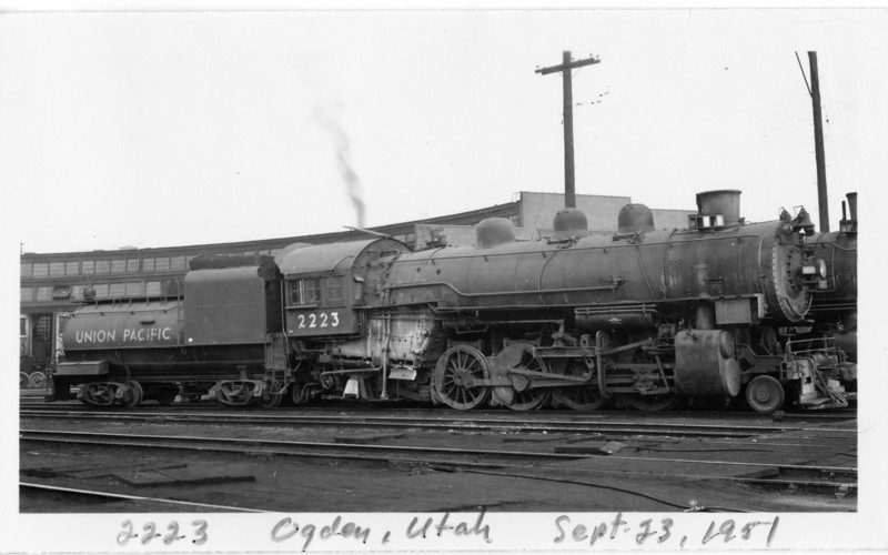 UP 2-8-2 2223, Ogden, September 23, 1951. (Vic Oberhansley Photo)