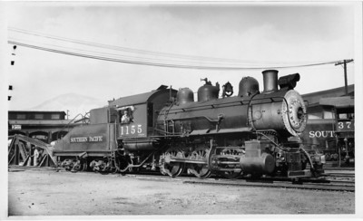 SP 0-6-0 1155, Ogden, July 6, 1947. (Vic Oberhansley Photo)