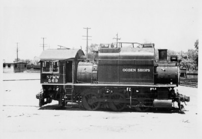SP 0-6-0T 569, Ogden, May 30, 1957. (Vic Oberhansley Photo)