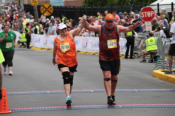 The satisfaction of crossing the finish line at Boilermaker 2019