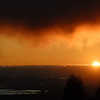 """<span id=""""title"""">Fog Sunset</span> As seen from our friends' house in Berkeley"""
