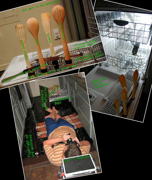 """<a href=""""http://www.jawsnap.net/Daily/year3/11272102_ACXDJ#868225990_6hpFt"""">2010-05-15 Wood Utensils</a> SETUP Collage! One photo wasn't enough to really show the work that went into this shot, so here are three! Hope it makes sense."""