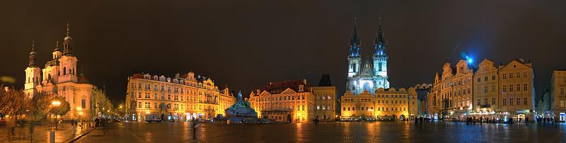 Night Lights, Old Town Square, Prague, Czech Republic