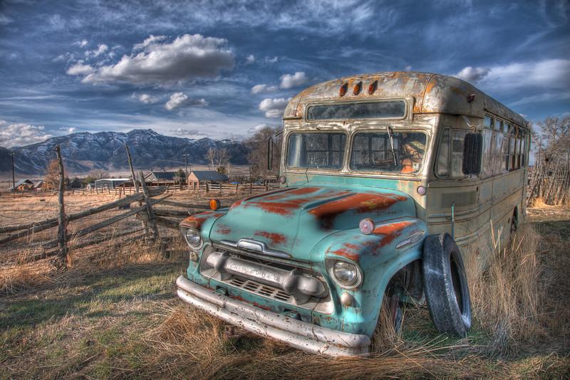 Old School bus - Scipio, Utah