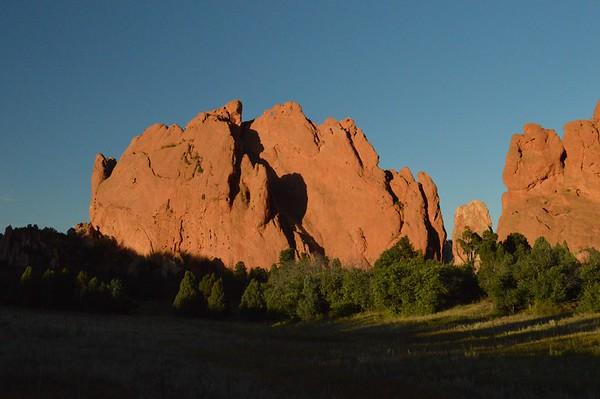 Sunset at the Garden of the Gods near Colorado Springs, Colorado