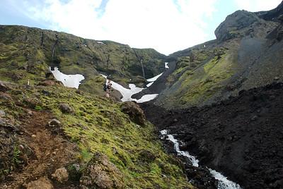 Í Hvannárgili rann einnig niður hraun.