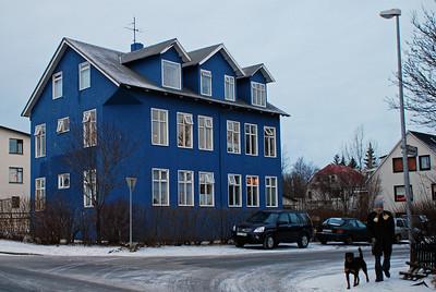 Efstasund 100 (?). Það var reist árið 1901 og þá á horni Vatnsstígs og Laugavegar