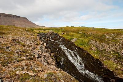 Á leiðinni upp í Vatnadal.