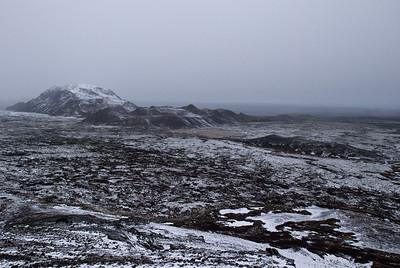 Helgafell, Valahnúkar, Mygludalir og Víghóll.