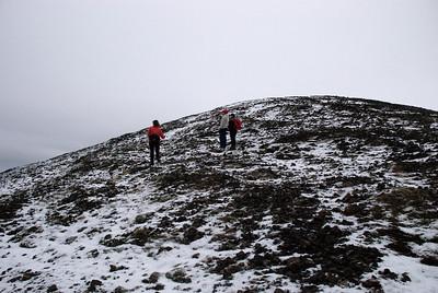 Þorbjörg, Ásta Kristín og Erna virða fyrir sér útsýnið