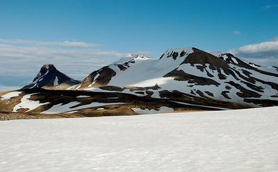 Loðmundur, Snækollur og Fannborg í Kerlingarfjöllum.