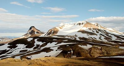Loðmundur, Snækollur og Fannborg séð frá Hveradalahnúk.
