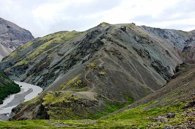 Leiðin niður Illakamb