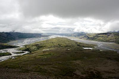 Horft yfir Eskifell í Lóni