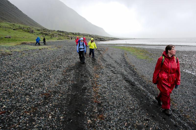 Skundi þramar föru í Papafirði