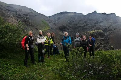 Anna Magga, Solveig, Bergþóra, Þorbjörg, Guðný, Ásta, Erna og Snædís
