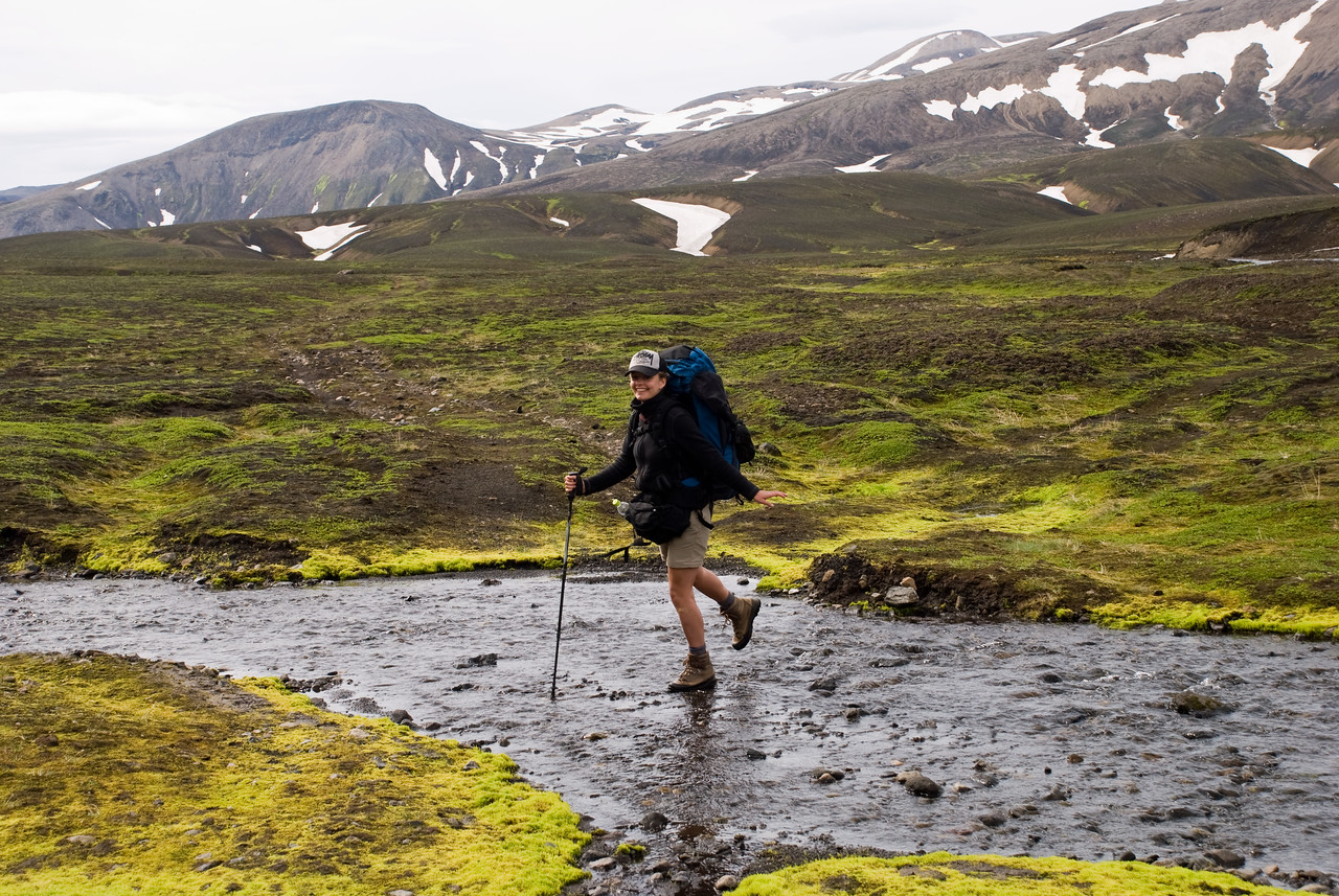 Ragnheiður sýnir réttu fótatökin