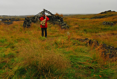 Álfhildur myndar rústir við Þýskubúð