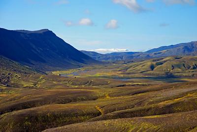 Leiðin að Strútslaug - Torfajökull í fjarska