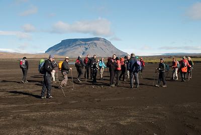Högnhöfðahópurinn og Hlöðufell í bakgrunni
