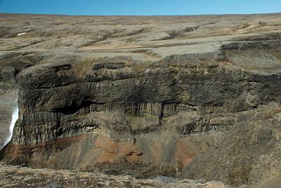Stuðlabergið er fallegt milli Háafosss og Granna