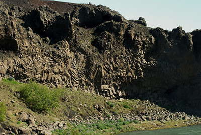 Við Hjálparfoss er þetta stuðlaberg.