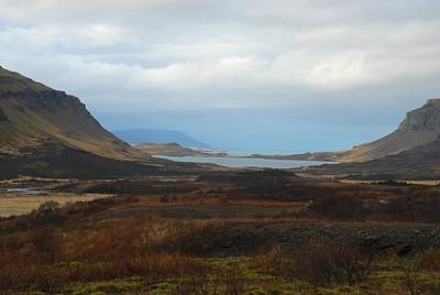 Horft út Hvalfjörðinn