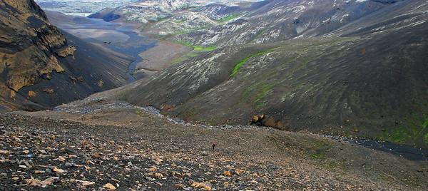 Greina má Önnu nokkuð neðarlega í hlíðinni