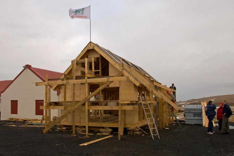 Nýtt skálavarðarhús fyrir Bása er í smíðum við Vífilsstaði