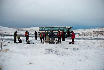 Hópurinn við upphaf ferðar