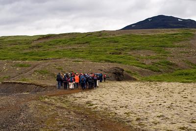Komið að fyrsta vaði, í Hrútagili, rétt eftir að rúturnar voru yfirgefnar. Kl. 21.06