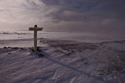 Hér er slóðinn að Brimkatli - við slepptum því að heimsækja hann  The crossroad near Brimketill