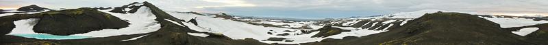 Horft yfir landslagið í 360° frá Fimmvörðuskála
