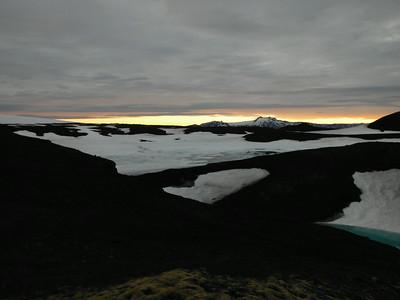 Horft yfir að Tindfjöllum