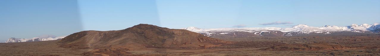 Tilraun til panorama myndar. Sett saman úr 5 myndum.