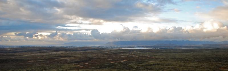 Horft í átt til Reykjavíkur