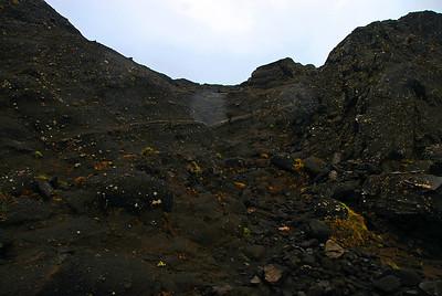 Leiðin framundan, eftir þetta fór myndavélin niður i bakpoka