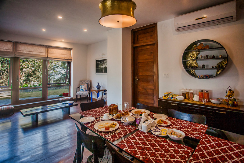 Breakfast at Rockvilla in Jabarkhet near Landour, Uttarakhand