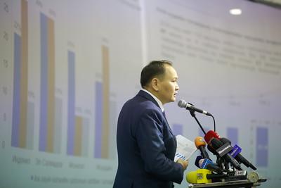 """2021 оны тавдугаар сарын 12. """"Ковидын дараах эдийн засгийн их сэргэлт"""" санаачилгыг танилцууллаа. ГЭРЭЛ ЗУРГИЙГ Г.ӨНӨБОЛД/МРА"""