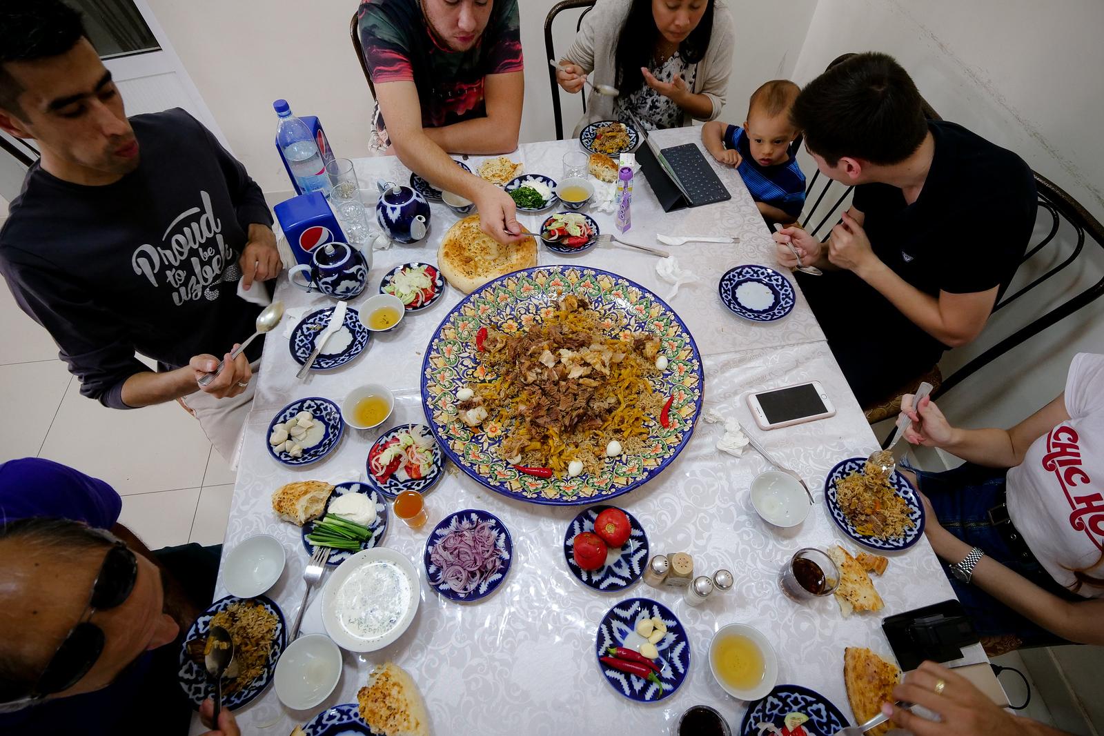 Uzbek food in Samarkand