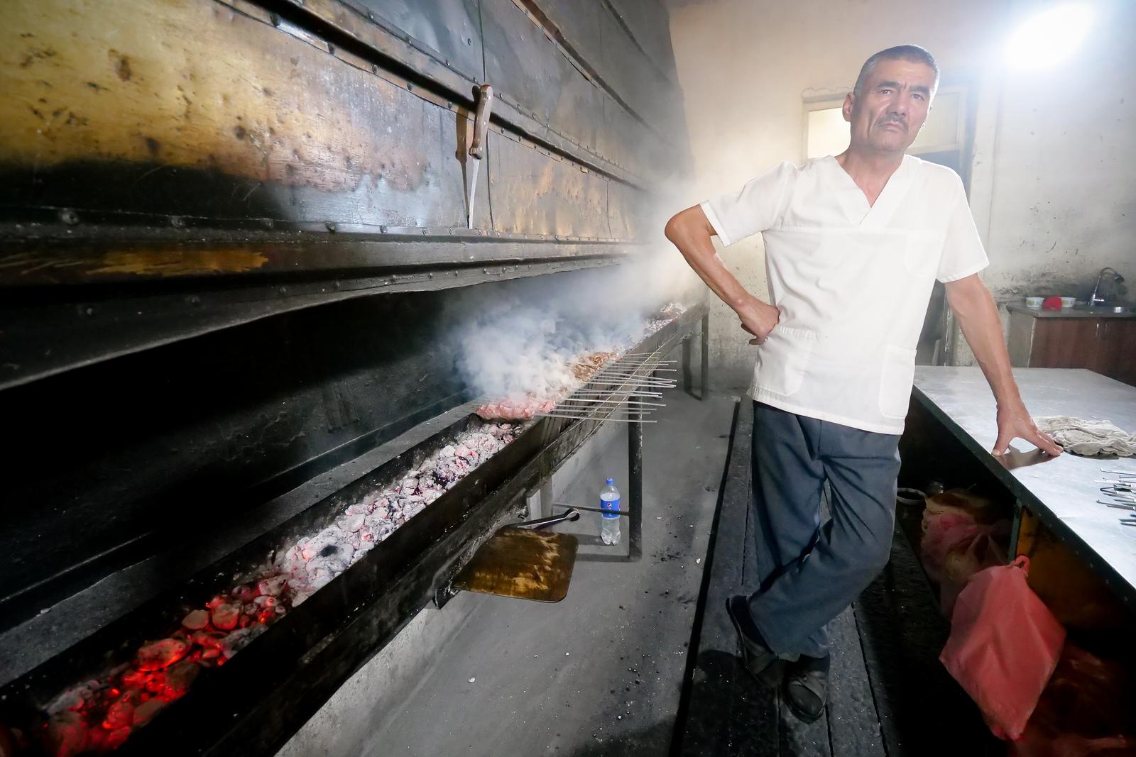 Uzbek kebabs