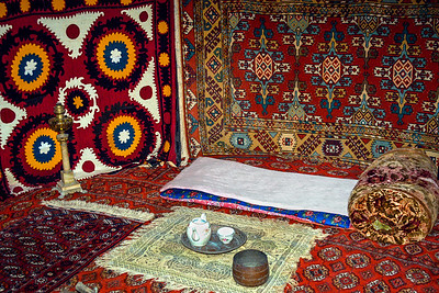 Inside Yurt, Tash Hauli Palace-Early 1800.s