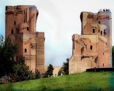 Birthplace Tamerlane and Ruins of Ak-Serai Palace 1380,Shakrisabz