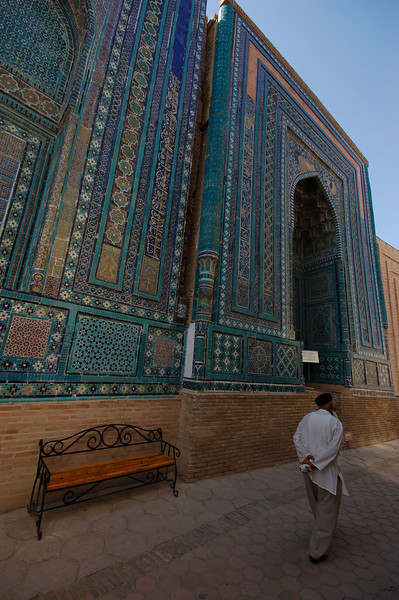 Uzbekistan, Samarkand: The incredible tile work of Shar-i-Zindah