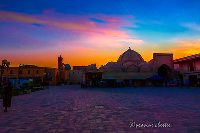 Bukhara in the evening