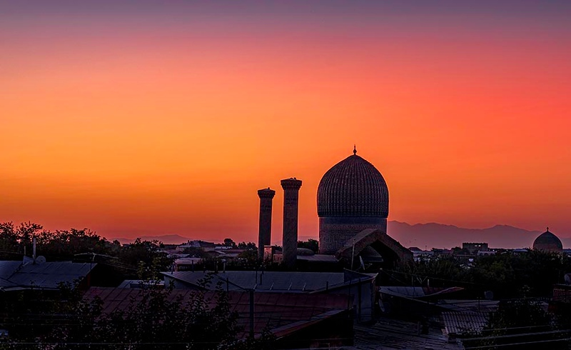 Sunrise in Samarkand