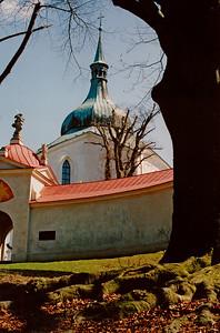 ŽĎÁR NAD SÁZAVOU  Poutní kostel sv. Jana Nepomuckého na Zelené hoře.